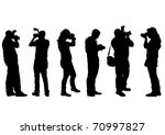 Vector Image Of People With...