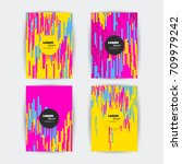 colorful covers with pattern  ... | Shutterstock .eps vector #709979242