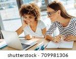 positive yougn students... | Shutterstock . vector #709981306