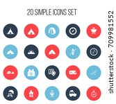 set of 20 editable travel icons.... | Shutterstock .eps vector #709981552
