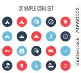 set of 20 editable travel icons....   Shutterstock .eps vector #709981552