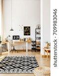 modern atelier of creative... | Shutterstock . vector #709983046