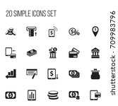 set of 20 editable banking...