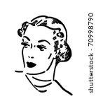 glamor gal   retro ad art... | Shutterstock .eps vector #70998790