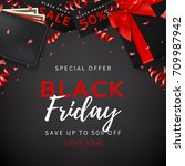 black friday sale background... | Shutterstock .eps vector #709987942