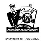 quality dry cleaning   retro ad ... | Shutterstock .eps vector #70998823