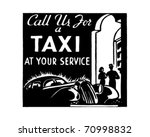 call us for a taxi 3   retro ad ... | Shutterstock .eps vector #70998832