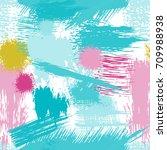 splash brush strokes seamless... | Shutterstock .eps vector #709988938