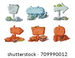 colorful stone pointers and... | Shutterstock .eps vector #709990012