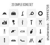 set of 20 editable tools icons. ...