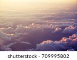 sunset and clouds | Shutterstock . vector #709995802