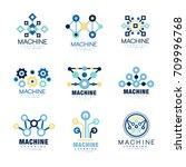 learning machine logo original... | Shutterstock .eps vector #709996768