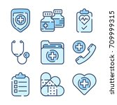 health care icon set | Shutterstock .eps vector #709999315