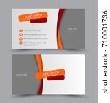 business card set template for... | Shutterstock .eps vector #710001736