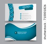 business card set template for... | Shutterstock .eps vector #710001826
