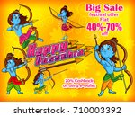 lord rama in happy dussehra... | Shutterstock .eps vector #710003392