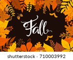 autumn fall leaves background | Shutterstock .eps vector #710003992