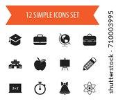 set of 12 editable school icons....