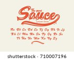 vector of modern stylized font... | Shutterstock .eps vector #710007196