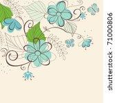 flower pattern for design as a...   Shutterstock .eps vector #71000806