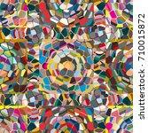 colourful seamless ornamental... | Shutterstock .eps vector #710015872