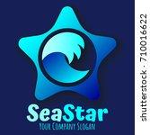 starfish vector logo concept ... | Shutterstock .eps vector #710016622