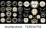 premium and luxury silver and... | Shutterstock .eps vector #710016742