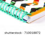 colorful notebook on white... | Shutterstock . vector #710018872