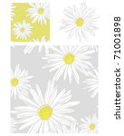 pretty daisy repeat pattern ... | Shutterstock .eps vector #71001898