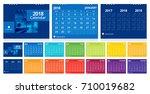 calendar 2018 template week... | Shutterstock .eps vector #710019682