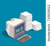 computer documents vector. | Shutterstock .eps vector #710020012