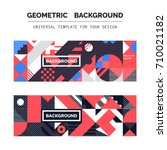 simple geometric backgrounds... | Shutterstock .eps vector #710021182