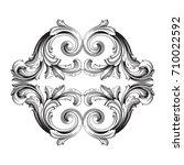 baroque vector of vintage... | Shutterstock .eps vector #710022592
