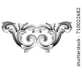 baroque vector of vintage... | Shutterstock .eps vector #710022682
