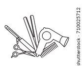 outline design elements of... | Shutterstock .eps vector #710025712