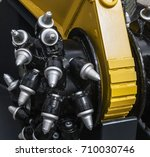 new drill head for the...   Shutterstock . vector #710030746