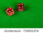 Craps dice showing double four - stock photo