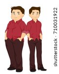 illustration featuring a fit... | Shutterstock .eps vector #710031922