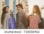Three Girls Posing On The...