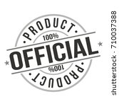 official product stamp design... | Shutterstock .eps vector #710037388