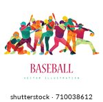 color sport background.... | Shutterstock .eps vector #710038612