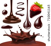 set of chocolate objects for... | Shutterstock . vector #710041165