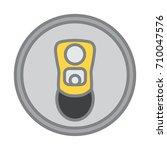 top view of beer can opened... | Shutterstock .eps vector #710047576