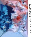 abstract colored polygonal... | Shutterstock . vector #710060872