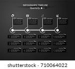 infographic timeline for... | Shutterstock .eps vector #710064022