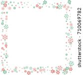 square christmas border or... | Shutterstock .eps vector #710069782