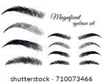 magnificent fashion brow set.... | Shutterstock .eps vector #710073466