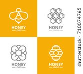 Set Of Retro Vintage Honey And...
