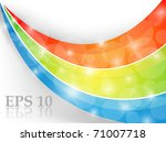 colorful abstract background.... | Shutterstock .eps vector #71007718