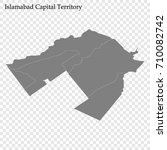 high quality map of islamabad... | Shutterstock .eps vector #710082742